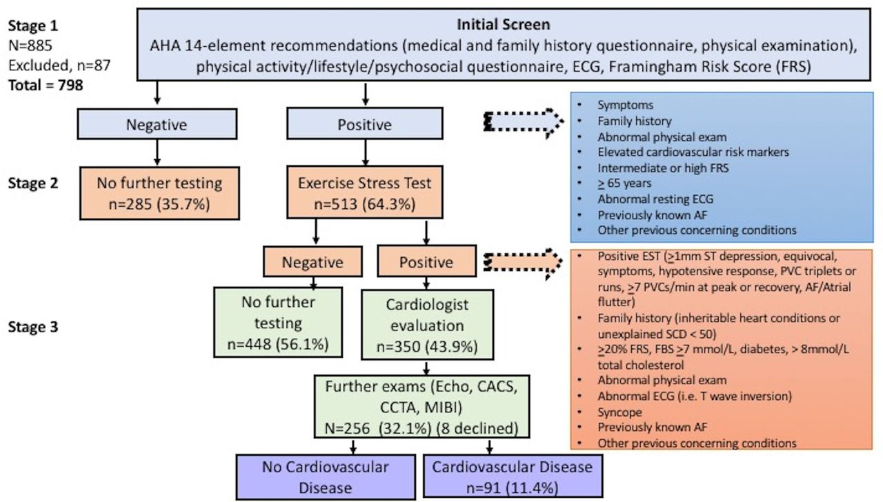 Assessment of cardiovascular risk and preparticipation